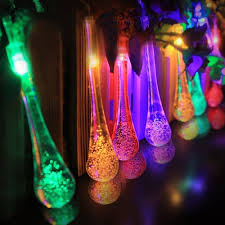 multi colored solar garden lights 4 meter solar garden lights string fairy multi color 20 led icicle