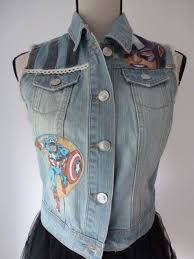 American Flag Jeans Women U0027s Usa Flag Stars U0026 Stripes Denim Waistcoat Mary Jane U0027s