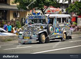 jeepney drawing angeles city philippines october 9 jeepney stock photo 208454086