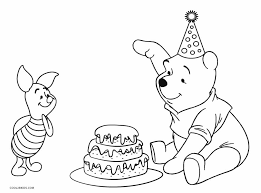 birthday coloring sheets free printable winnie the pooh coloring pages for kids cool2bkids