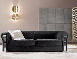 nella vetrina rugiano amnesia 6052 320 black upholstered suede sofa