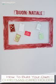 christmas card display holder i should be mopping the floor diy christmas card holder