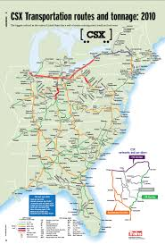 csx railroad map csx transportation routes tonnage 2010 skyscrapercity