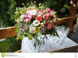 beautiful floral arrangement of pink and white peonies roses