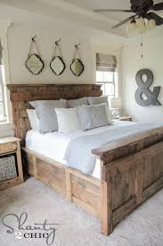 How To Make A King Size Platform Bed With Pallets by Diy King Size Bed Free Plans Shanty 2 Chic