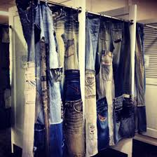 Curtains For Dressing Room Burlap And Denims Singular Dressing Room Made From Recycled