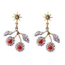 danglers earrings design unique brand design leaf flower dangler earrings shining