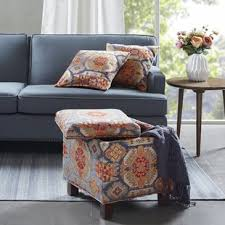 Ikat Storage Ottoman Ikat Ottomans Poufs You Ll Wayfair