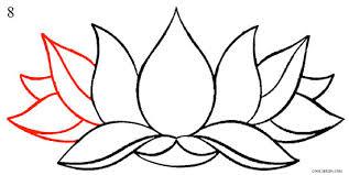 drawing of a lotus flower opsit me