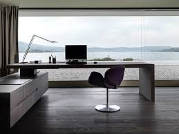 home office white office modern design executive dark brown desk