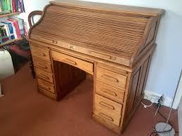 Antique Roll Top Desk by Lovely Oak Antique Roll Top Desk On Concealed Castors And With
