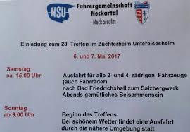 Wetter Bad Friedrichshall Nsu Prinz Ig Rosenheim 28 Treffen Der Fahrergemeinschaft Neckartal