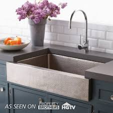 Paragon Single Basin Farmhouse Kitchen Sink Native Trails - Brushed stainless steel kitchen sinks