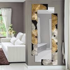 designer wall mirror petunia oro by viadurini decor made in italy