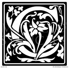 monogram stencils u2013 modello designs