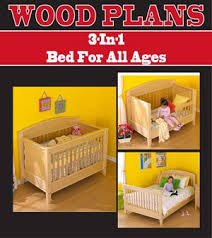 3 in 1 bed woodworking paper plan pw10057 peachtree woodw
