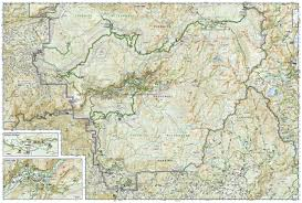 Sequoia National Park Map Yosemite National Park National Geographic Trails Illustrated Map