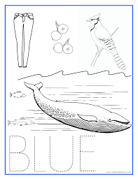 blue coloring pages blue color activity sheet repinned totetude