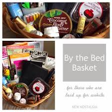 care package for someone sick a by the bed basket a great gift idea for someone who is sick
