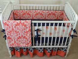 Navy And Coral Crib Bedding 42 Best Navy And Coral Nursery Images On Pinterest Color
