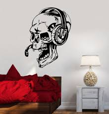 compare prices on gamer wall stickers vinyl decal online shopping hwhd vinyl decal gamer skull headphones gaming video games wall stickers free shipping china