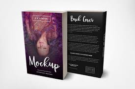 front back cover 5 x 8 paperback book mockup template promo