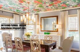 ceiling ideas patterned wallpaper on the ceiling home