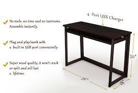 Quality Computer Desk Folding Computer Desk W Usb Port U2013 Espresso 40 U2033 Stony Edge