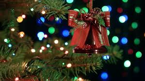 Pictures Of Christmas Trees Decorated With Birds by Decorating Christmas Tree With Toys Bird And Garalands At Evening