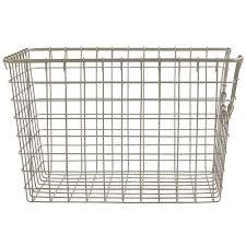wire storage basket nickel in wire baskets
