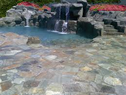 Stamped Concrete Patio Design Ideas by Decorating Attractive Stamped Concrete Patio In Pool Area Plus
