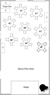 Banquet Hall Floor Plan by Choosing A Floor Plan For Your Wedding Reception