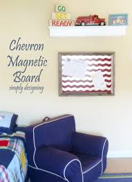 diy chevron magnetic board
