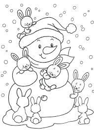 coloring pages snowman pictures color snowman pictures