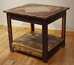Rustic Coffee And End Tables Marvelous Rustic Coffee And End Table Sets Reclaimed Barnwood For