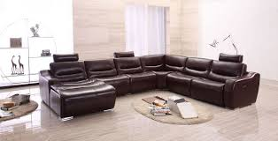 extra large spacious italian leather sectional sofa in brown south
