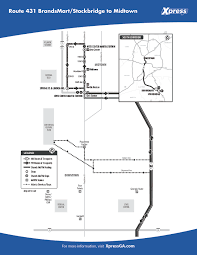 Marta Atlanta Map Route 431 U2013 Stockbridge To Midtown Xpress