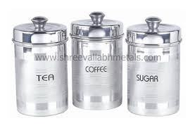 silver kitchen canisters silver touch tea coffee sugar set