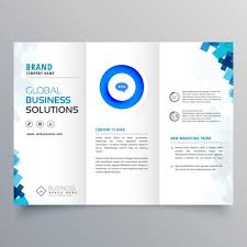 trifold business brochure vector design template download free