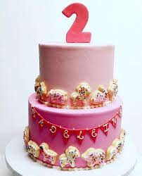2 year birthday 2 tier pink birthday cake for two year girl jpg hi res 720p hd