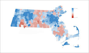 Map Election by Massachusetts Election Results How Your Town Or City Voted