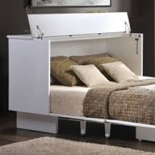 creden zzz cottage style cabinet bed pekoe finish memory foam