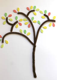 3 easy ways to make a fall tree reading confetti