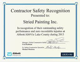 safety award certificate template imts2010 info
