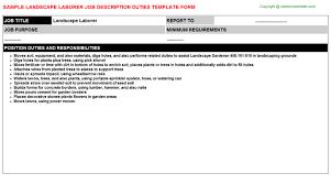 Sample Resume For Landscaping Laborer by Landscape Laborer Job Title Docs