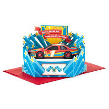 pop up birthday card race to the finish pop up birthday card greeting cards hallmark