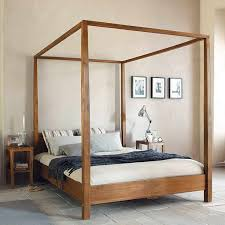 Bed Canopy Frame Wood Canopy Bed Frame Great For Inside With
