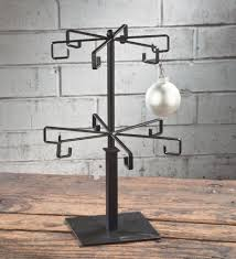 ornament trees christmas ornament stand and hooks hangers display tree black flat wire 12 arm