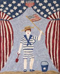 American Flag Rugs Polly Minick Gallery Woolleyfox