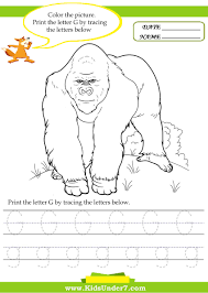 kids under 7 alphabet worksheets trace and print letter g